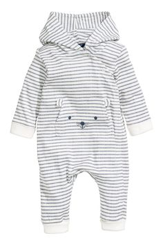 854b966f588a0 Printed Jersey Jumpsuit - White blue striped - Kids