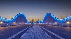 Meydan bridge at dusk by Bjorn Moerman on 500px