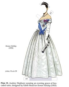 audrey hepburn paper doll, roman holiday