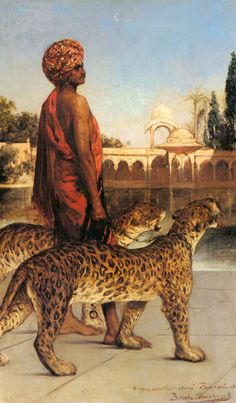 Jean-Joseph Benjamin-Constant - Palace Guard with Two Leopards.jpg