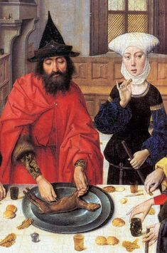 .:. Dieric Bouts, The Feast of Passover (detail). between 1464 and 1467. oil on panel.