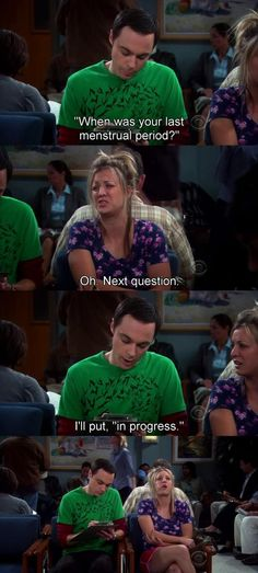 Sheldon helps Penny at the hospital - one of the best Big Bang Theory episodes! The Big Theory, Big Bang Theory Funny, Big Bang Theory Quotes, The Big Bang Theroy, Sheldon Cooper Funny, Tv Quotes, Funny Quotes, Tbbt, Dump A Day