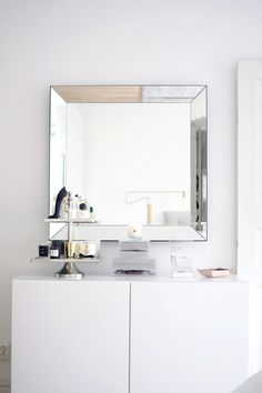 Kampauspöydän uusi ilme & upea Habitat peili