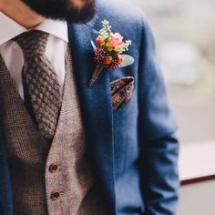 Totally awesome dapper groom alert over on @rockmywedding this week. There's tweed, there's a three piece, there's a beautiful buttonhole that we wouldn't mind pinning on our own blazer. Epic! Image by @marcossanchez_