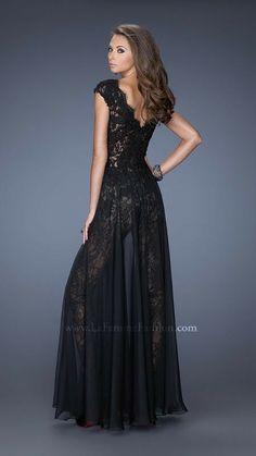 Black Sexy Prom Dress Long By La Femme 20010