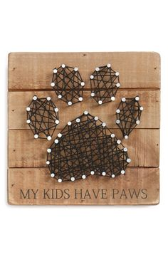 Add a homey touch to your décor with rustic block art celebrating your favorite four-legged friend.
