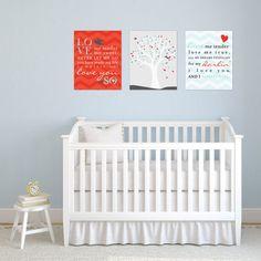 Creative and Trendy Personalized Nursery Art, Elvis's Love Me Tender Lyric Print Set, 3 Print Set, Art Print or Canvas / N-G56-3PS AA1 03N