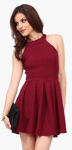 Cranberry cocktail dress