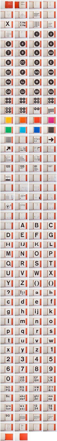 Typography ::: l'intégralité du manuel de la signalétique de la New York Transit Authority ::: New York Transit Authority Graphics Standards Manual by Massimo Vignelli in 1970