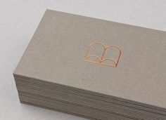 Logo and triplex business card with copper block foil for Belinda Nowell's publishing venture Boabel, designed by Muad. Opinion by Richard Baird Examples Of Business Cards, Cool Business Cards, Business Card Design, Lettering Design, Branding Design, Logo Design, Logo Branding, Luxury Branding, Copper And Grey