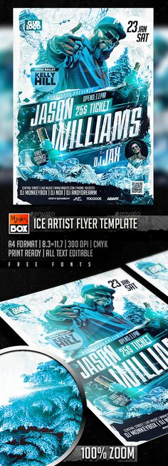 Ice Artist Flyer Template PSD #design Download: http://graphicriver.net/item/ice-artist-flyer-template/14166105?ref=ksioks