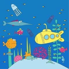 Sea life illustrations