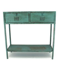 Look at this Vintage-Inspired Dual Drawer Table on #zulily today!