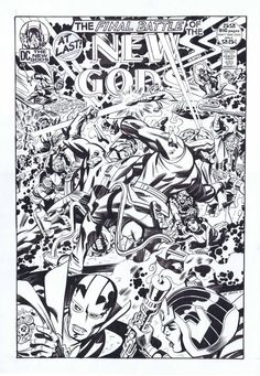 New Gods #12 Commissioned Cover by Steve Rude!The King Would Be Proud!