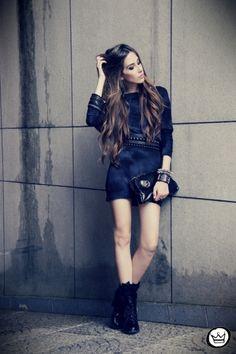 Dark and edgy, I love it especially the dress