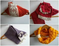 Winter Mori Cowls and Scarves from Little Treasures #crochet