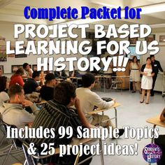 This awesome packet for bringing Project Based Learning (PBL) in your US History classes will be life-changing! PBL brings real world experiences into the classroom to make lessons more meaningful and engaging for students. It gives them choice in their learning while also delving deeper into a topic US History that matters to them.
