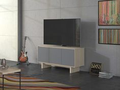 Octave 8377 hits a high note in media console design. This full-featured triple-width media cabinet by BDI features unique perforated steel doors - providing complete acoustic transparency - a full-width soundbar shelf, cable management, adjustable shelves, and can accommodate an up to 70-inch flat-screen television.