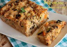 Polpettone di pane raffermo con verdure saltate in padella..in cucina non si butta nulla.Una ricetta per consumare il pane duro arricchita con tante verdure