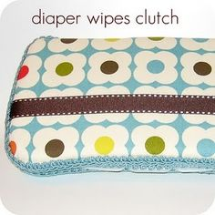 Diaper wipes cover tutorial