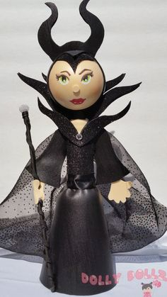 Make it a royal day and get someone you love a totally handcrafted Disney Inspired Maleficent Doll. These dolls are made of quality craft products and