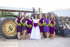 Bridesmaids. Formal Wedding Party