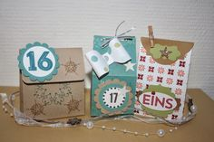STAMPIN´ UP! in Dresden  Stempel-Revier : STAMPIN`UP! Adventskalender Milchkarton und Co