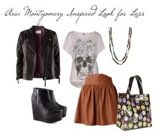 (28) aria montgomery style | Tumblr,,, lovely leather,,, nice matching fabric and texture and mixing up colors.