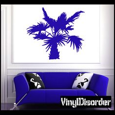 Palm Tree Wall Decal - Vinyl Decal - Car Decal - NS012