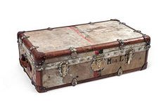 Another stunning wardrobe/steamer chest. The stories it could tell.......  www.onekingslane.com