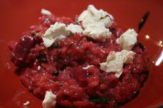 Beetroot and goats cheese risotto