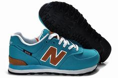 Joes New Balance 574 WL574PBD South Korea Style seaBlue Brown Womens Shoes