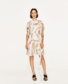 ZARA - WOMAN - MINI DRESS WITH PRINTED BELT
