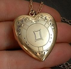 BATES & B Art Deco Antique LOCKET Gold Insert Frames by YearsAfter, $135.00