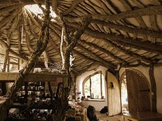 Inside the Hobbit house.