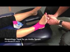 How To Tape An Ankle Sprain | SPORTS STRAPPING TAPE