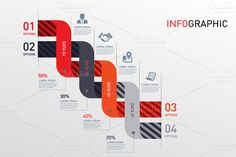 Vector - Data Info Graphic ~ Presentation Templates on Creative Market Information Architecture, Information Design, Information Graphics, Information Visualization, Data Visualization, Book Design, Web Design, Infographic Powerpoint, Timeline Infographic