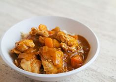 Apricot Chicken ~ Quick and easy apricot chicken with skinless boneless chicken breasts and fresh apricots. ~ SimplyRecipes.com