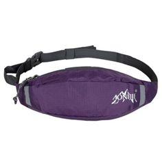 Wearproof Sports Fanny Packs Walking Close-fitting Waist Pack Belt Bag Purple