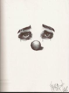 Sad clown sketch