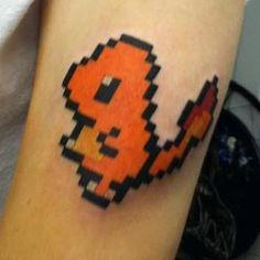 8 Bit Pokemon tattoo. I wouldn't get it but it's just so damn cute!