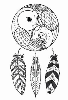 Printable Adult Coloring Pages Dream Catchers Beautiful Owl Dreamcatcher Dreamcatchers Adult Coloring Pages Free Adult Coloring, Adult Coloring Book Pages, Printable Adult Coloring Pages, Coloring Pages To Print, Coloring Books, Colouring, Dream Catcher Coloring Pages, Dream Catcher Drawing, Dream Catchers