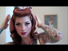 Vintage Bumper Faux Bang Tutorial by Cherry Dollface: You guys have been asking for this for over a year so I finally broke down and did it! Be sure to subscribe for more variations on this style that I will be posting!    Music by Roy Kay Trio    XOXO  Cherry Dollface  http://www.facebook.com/thecherrydollface  instagram: thecherrydollface
