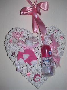 Baby hart Leuk om te geven...kan ook in een krans. Te bestellen via mijn facebook!