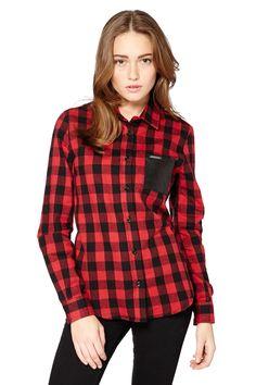 Venda Moda streetwear / 29108 / Redskins / Mulher - Top. t-shirts e camisas / Camisa Moreen Vermelho e preto