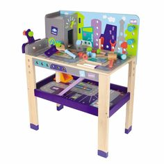 Educational Toys For 2 Year Olds Girls Boys Children Work Bench Wood NEW #Boikido
