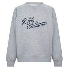 Buy Buy R.M.Williams Womens Script Crew NeckJumper Grey/Blue - The Stable Door Rm Williams, Womens Rugby, Script Logo, Buy Buy, Season Colors, Rivers, Things To Buy, Blue Grey, Jumper