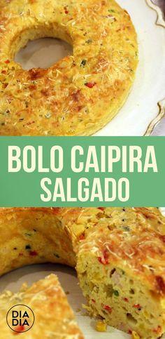 Bolo Caipira Salgado Good Food, Yummy Food, Portuguese Recipes, Budget Meals, Light Recipes, Food And Drink, Cooking Recipes, Favorite Recipes, Sin Gluten