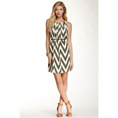 Pink Owl Belted Zigzag Dress and other apparel, accessories and trends. Browse and shop related looks.