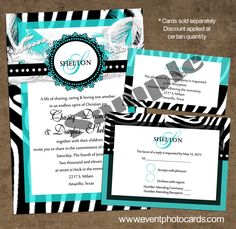 Zebra Animal print quinceanera invitations, invitaciones de zebra, wedding animal print invitations found at www.eventphotocards.com
